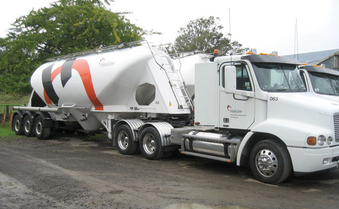 Holcim NZ using AXL digital truck scales
