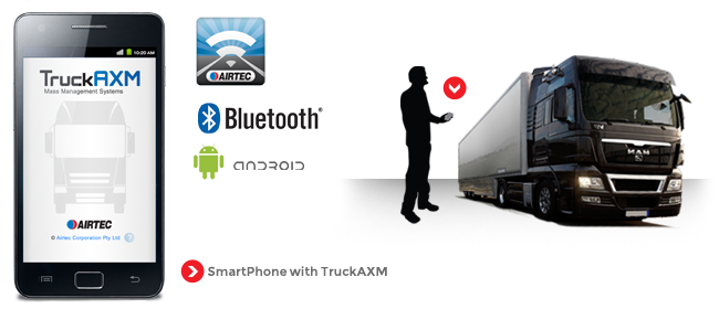 TruckAXM - android and iOS versions available compatible with AXM digital truck scales