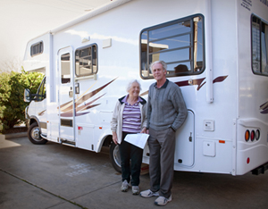 Normh and Thelma - Caravan owners using Airtec's valve extensions