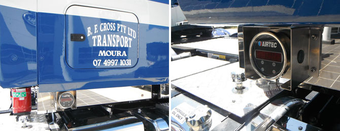BF Cross Transport - case study photo - AXL truck scale