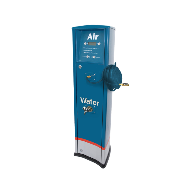 FRP Freestanding inflator with compressor and tap Caltex service station