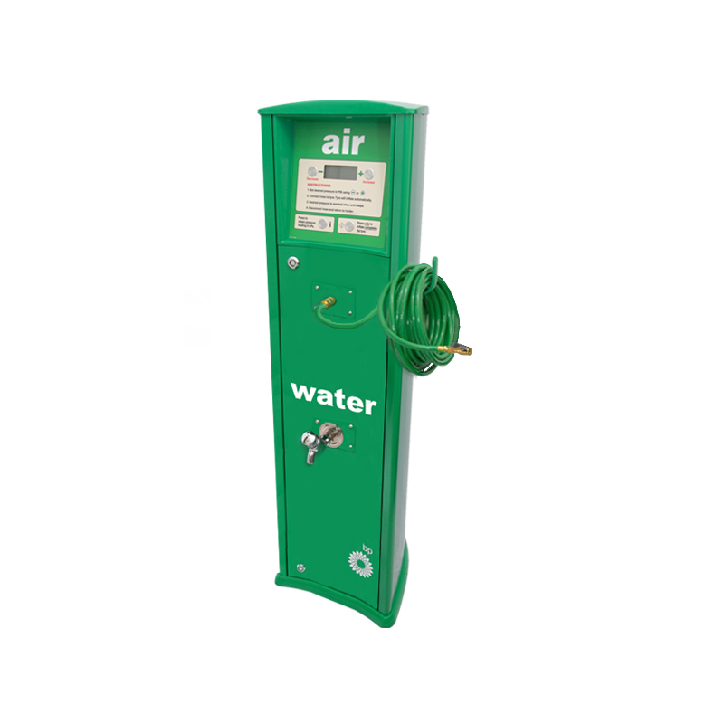 FRP Freestanding inflator with compressor with tap BP service station