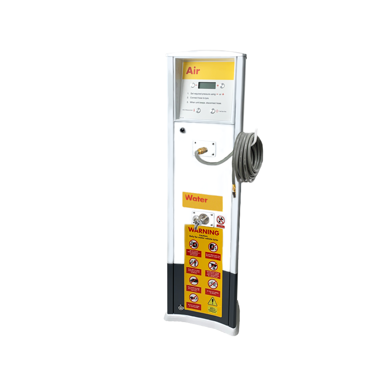 FRP Freestanding inflator with compressor and tap Shell service station