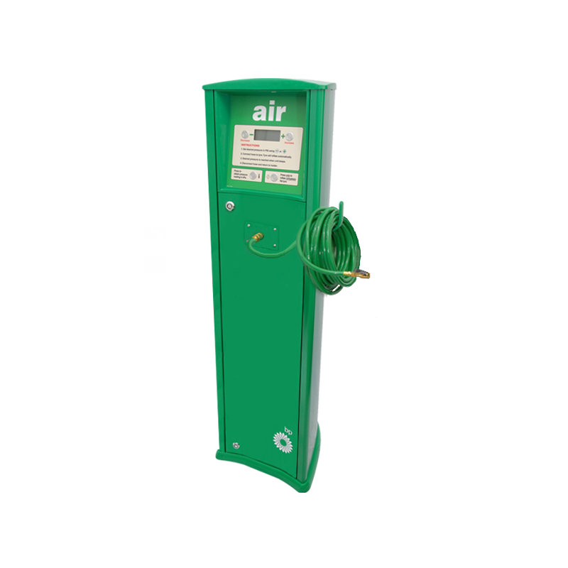 FRP Freestanding inflator with compressor BP service station