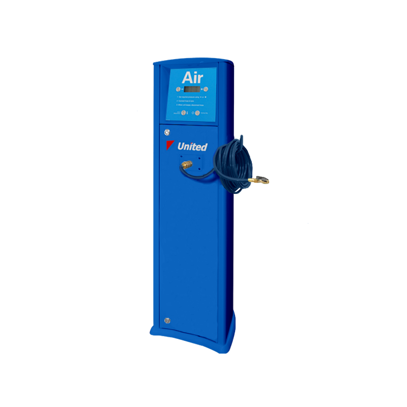 FRP Freestanding inflator with compressor United service station