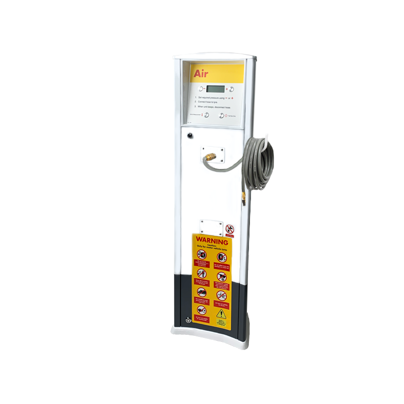 FRP Freestanding inflator with compressor Shell service station